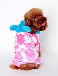 Chat Chien Pulls à capuche Pyjamas Vêtements pour Chien Mignon Décontracté / Quotidien Dessin-Animé Noir Café Rose Costume Pour les