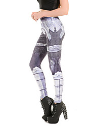 abordables -las mujeres imprimen legging, polyestersporty fashion slim chic colorful