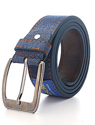 cheap -Men's Alloy Waist Belt,Black Dark Blue Blue Light Blue Work Casual Solid