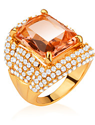 cheap -Luxury Design Fashion 18K Gold/Platinum Plated Big Zircon Inlayed Crystal Rings For Women Jewelry Gift R70099