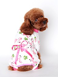 preiswerte -Katze Hund Overall Pyjamas Hundekleidung Niedlich Lässig/Alltäglich Cartoon Design Gelb Blau Rosa Kostüm Für Haustiere