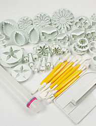 cheap -1 Set Of 46 Pcs DIY / High Quality / Cake Decorating / Baking Tool / Fashion For Cookie / For Chocolate / For Cupcake / For Cake ABS