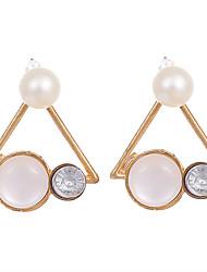abordables -Femme Mode Vintage Cristal Plaqué or Opale Alliage Forme de Triangle Bijoux Pour Mariage Soirée