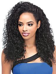 economico -Donna Parrucche sintetiche Senza tappo Lungo Onda naturale Afro Nero parrucca nera costumi parrucche