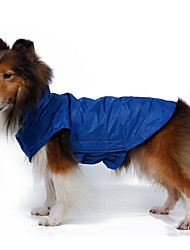 Chien Manteaux Gilet Vêtements pour Chien Garder au chaud Coupe-vent Solide Orange Jaune Rouge Rose Rouge Bleu Costume Pour les animaux