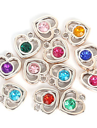 cheap -Charms / Pendant - Imitation Diamond Heart, Love Pendant Random Color For Valentine