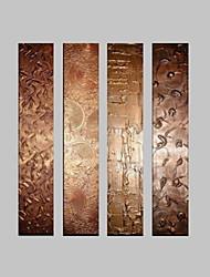 economico -Dipinta a mano Astratto Fantasia Verticale,Modern Quattro Pannelli Tela Hang-Dipinto ad olio For Decorazioni per la casa