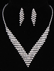 cheap -Women's Jewelry Set - Fashion Include Necklace / Earrings Silver For Wedding