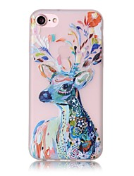 billige -Etui Til Apple iPhone X iPhone 8 iPhone 6 iPhone 7 Plus iPhone 7 Lyser i mørket Mønster Bagcover Dyr Blødt TPU for iPhone X iPhone 8 Plus