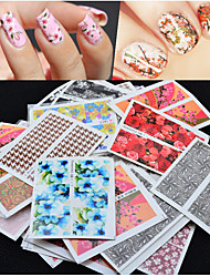 cheap -50 pcs Flower / Fashion Nail Jewelry / 3D Nail Stickers Daily / PVC(PolyVinyl Chloride)