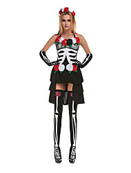 Costumes Ghost Halloween Black Print Terylene Dress / More Accessories