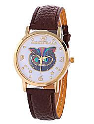cheap -Girl Quartz Watch Clock Women Leather Casual Dress Women's Owl Wristwatch Cool Watches Unique Watches