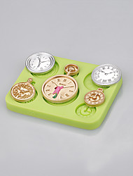 Hot wholesale clocks and watches shaped cake decorating silicone mold Color Random