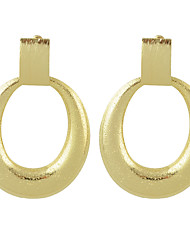 cheap -New Gold Color Big Round Hanging Earrings