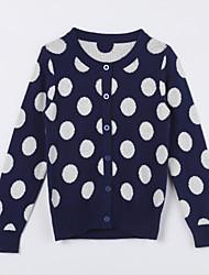 povoljno -Pamuk Na točkice Dnevno Jesen Džemper i kardigan Dark Blue