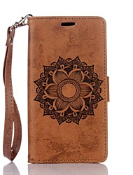 cheap -Case For Huawei P9 Lite Huawei Huawei P8 Lite P9 Lite P8 Lite Huawei Case Card Holder Wallet with Stand Embossed Full Body Cases Mandala