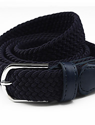 cheap -Fashion Women Belt Oxford Cloth Material Belt Metal Buckle Decorative Belts