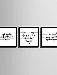 cheap -E-HOME® Framed Canvas Art, English Letter Framed  Canvas Print Set of 3