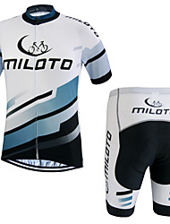 cheap -Miloto Cycling Jersey with Shorts Men's Short Sleeves Bike Jersey Sweatshirt Shorts Clothing Suits Bike Wear Quick Dry Moisture