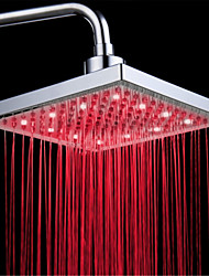 cheap -Top Spray Shower Head With Tricolor Luminous Color Temperature /8 Inch Water Booster Top Spray (ABS Plating)