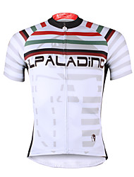 ILPALADINO Cycling Jersey Men's Short Sleeves Bike Jersey Tops Quick Dry Ultraviolet Resistant Breathable Soft Compression Lightweight
