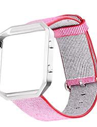 Недорогие -Красный / Черный / Синий / Розовый / серый Нейлон Спортивный ремешок Для Fitbit Смотреть 23мм