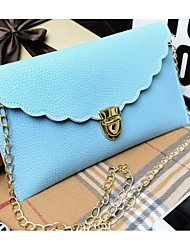 Women Bags PU Clutch with for Casual Fuchsia Red Green Blushing Pink Light Blue