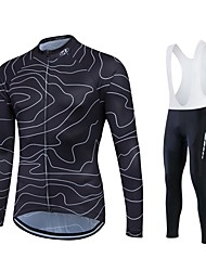 Sports Cycling Jersey Men's / Unisex Long Sleeve BikeBreathable / Thermal / Warm / Quick Dry / Windproof / Fleece Lining / Moisture