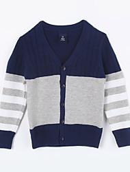 preiswerte -Pullover & Cardigan Alltag Einfarbig Baumwolle Herbst Grau