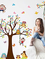 cheap -Fashion Story Tree Living Room Bedroom Children's Room Background Decorative PVC Removable Wall Stickers