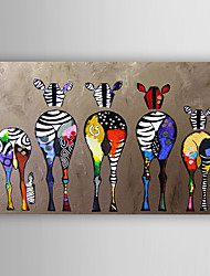 cheap -Oil Painting Abstract Zebras Hand Painted Canvas Painting with Stretched Framed Ready to Hang