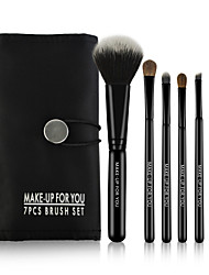 cheap -7 Makeup Brushes Set Horse /Travel / Full Coverage / Horse Hair / Portable Wood Face / Eye / Lip MAKE-UP FOR YOU