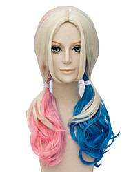Women Synthetic Wig Capless Platinum Blonde Capless Wig Party Wig Halloween Wig Costume Wigs
