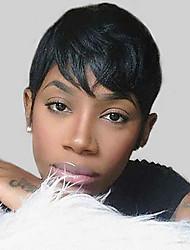 Недорогие -естественные волнистые короткие парики человеческих волос для женщин