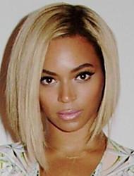 moda cabelo humano em linha reta perucas de mulher