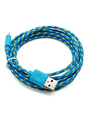 2 Pakcs 2M 6ft Micro USB Charging and Data Sync Cord Cable Fabric Braided Woven for Samsung HTC Android Devices