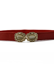 cheap -Lady Fashion Belts Leather Material Waistband Metal Belt Buckle