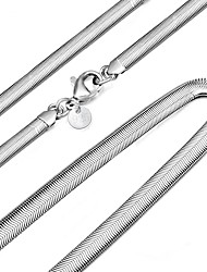 cheap -Men's Women's Snake Sterling Silver Chain Necklace  -  Personalized Sideways Fashion Silver Necklace For Wedding Party Daily