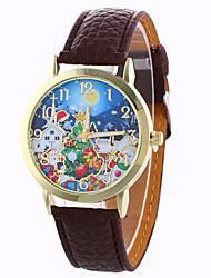 Женские Модные часы Фаза луны Кварцевый Цифровой PU Группа Винтаж Конфеты С подвесками Cool Повседневная Черный Белый