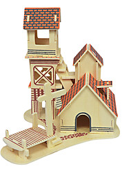 Jigsaw Puzzles 3D Puzzles Wooden Puzzles Building Blocks DIY Toys House Wood