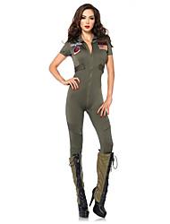 Voják/Bojovník Cosplay Kostýmy Kostým na Večírek Dámské Halloween Festival/Svátek Halloweenské kostýmy Jednobarevné