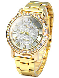 YTwatch Golden Color Ladies Quartz Watch with Luxury Diamond Stainless Steel Band Strap Watch
