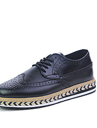 Men's Fashion Leather Shoes Height Increasing Flats