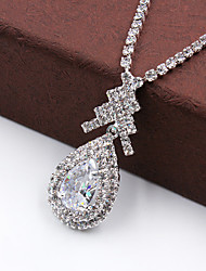 cheap -Women's Jewelry Set - Fashion Include Necklace / Earrings Silver For Wedding / Party