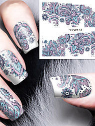 cheap -blooming flower nail art water decals transfer nail stickers nail art decoration born pretty