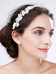 Lace Acrylic Flowers Headpiece