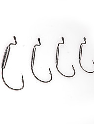 10pcs Silver Carbon Steel Hook 2Bags 6g Sea Fishing / Jigging Fishing / Freshwater Fishing Tackle