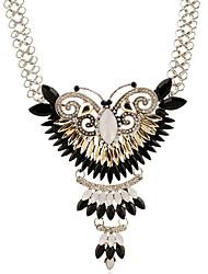 Da donna Collane con ciondolo Di forma geometrica Forma di animali Farfalla Pietre sintetiche Argento sterling Argento placcato Diamanti