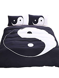 cheap -BeddingOutlet Tai Chi Bedding Set Black and White Bed Cover Yin Yang Printed Twin Full Queen King Home Textiles