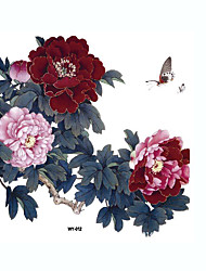 cheap -Chinese Wind Peony Large Tattoo Stickers Decals